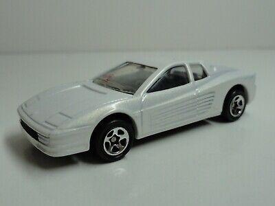 Hot Wheels #497 Ferrari Testarossa (White w/ 5SP Wheels) - LOOSE