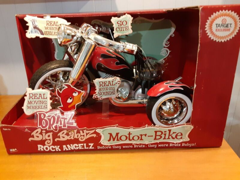Vintage  Bratz  Big  Babyz Motor-Bike Rock Angelz  by  MGA NIB