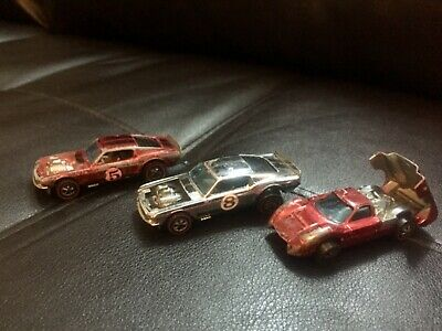 1967 1969 hotwheels redline ford J car mustang boss hoss lot vintage