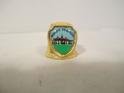 Mount Vernon Gold Colored Thimble