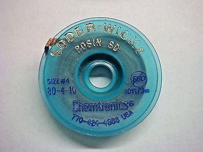 1 Chemtronics 80-4-10 10ft X .110in Size 4 Desoldering Braid Soder-wick Rosin