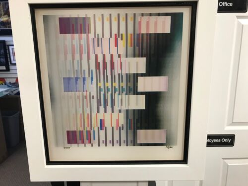 """Yaacov Agam  Agamograph """" In and Out """"  Signed & Numbered Limited Edition Framed"""