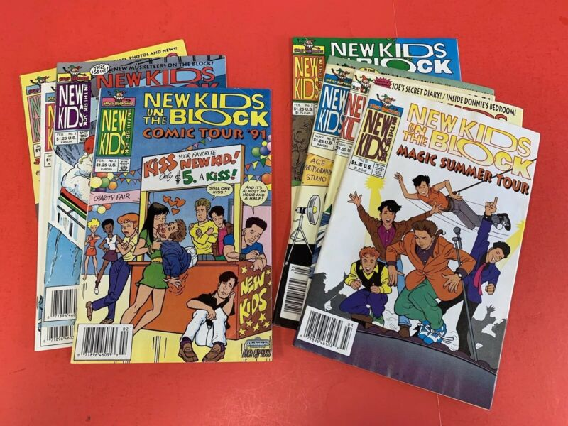 NEW KIDS ON THE BLOCK COMIC BOOKS - 9 DIFFERENT ISSUES - 1991 HARVEY PUBL.