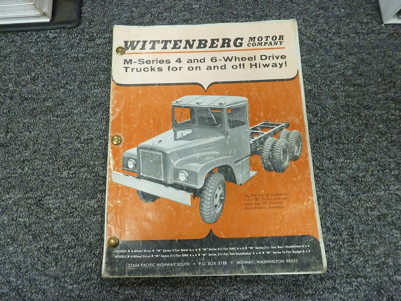 Wittenberg motor m series g744 g742 g741 g749 truck shop service repair manual