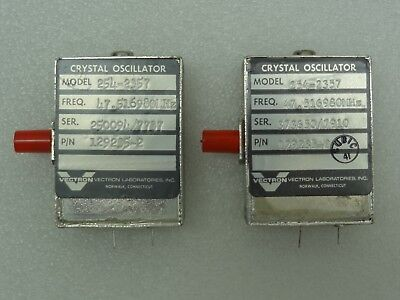 Lot Of 2 Vectron Model 254-2357 Crystal Oscillators Pn 129235-2 47.516980 Mhz