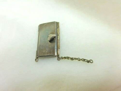 Antique Asian Sterling Silver Wide Bracelet Clasp for Repairs Or Repurpose