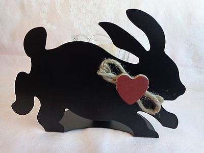 Metal Bunny Rabbit Silhouette - Votive Candle Holder - Home Interiors - Easter](Bunny Silhouette)