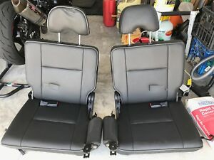 Nissan Patrol rear seats - Black Leather Hideaway Bay Whitsundays Area Preview