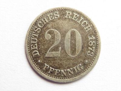 H25   KAISERREICH 20 Pfennig 1873 B