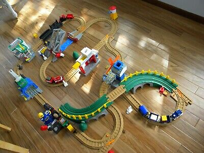 Large Fisher Price GeoTrax train set many extras excellent