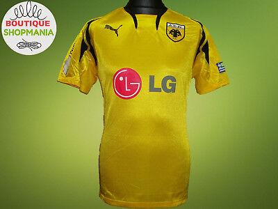 VGC AEK ATHENS HOME 2007-2008 (M) PUMA FOOTBALL SHIRT Jersey Camisa Soccer image