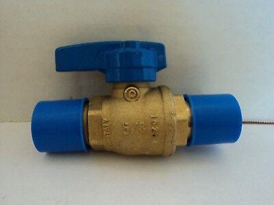 Brass Gas Ball Valve Blue Teardrop Handle 58 204fltd 58 101-614