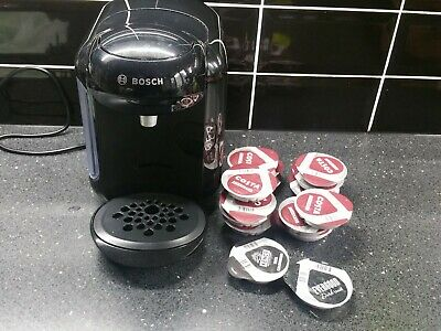 BOSCH TASSIMO  VIVY 2 1300W COFFEE MACHINE - BLACK (TAS1402GB) WITH 6 CHOCOLATE