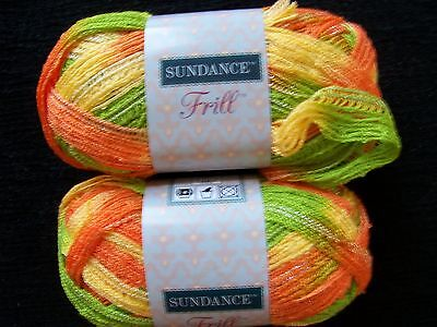 Sundance Frill ruffle mesh yarn, Sherbet, lot of 2 on Rummage