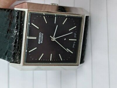 Seiko Quartz Mens Watch Serviced New Battery4100-5009 NOS 1992 Mint Japan Made