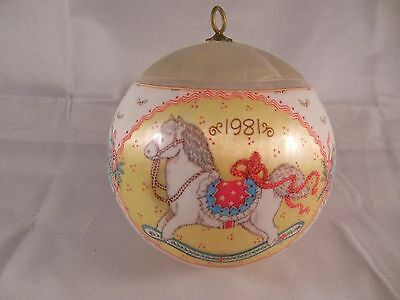 VINTAGE 1981 HALLMARK SATIN CHRISTMAS BALL ORNAMENT GRANDDAUGHTER
