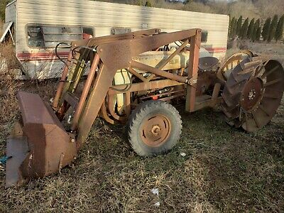 Ford 600 641 Series Workmaster Working Front End Loader Factory Ford 19-202