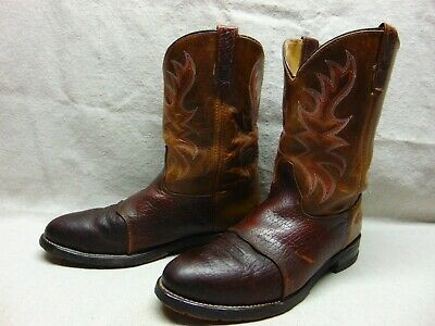 Double H Boots 3690 AG7 ICE Roper ST Men's 11.5 EE Brown Leather Western Cowboy
