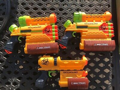 Nerf Zombie Guns - Lot of 3 - (2) ZR-800 and (1) ZR-100 Zombie Strike Biohazard