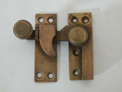 Original Old Antique Brass Sash Window Lock Vintage #IM325