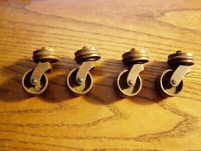 4--vtg Brass Industrial Small Swivel Casters- Brass Wheels 1