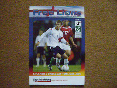 ENGLAND V PARAGUAY FREE LIONS, 10/6/2006, ISSUE 56, WORLD CUP 2006