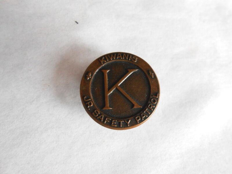 Vintage Kiwanis Club Junior Safety Patrol Screwback Lapel Pin