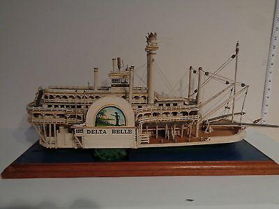 "Vintage RARE Hand Made ""Delta Belle Riverboat"" Model  by Arthur Salmons"