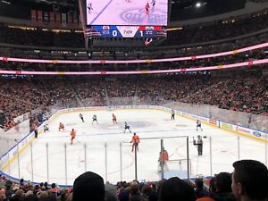 Edmonton Oilers tickets for sale, Section 129, Row 18. Facevalue