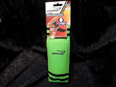 BRINE SOCK-R Soccer Shin Guard AIR COOLED DESIGN Lime Green Medium Ankle Support