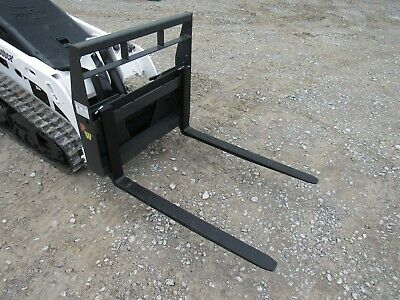 Bobcat Mt 453 S70 Mini Skid Steer - New 42 Pallet Forks Attachment - Ship 179