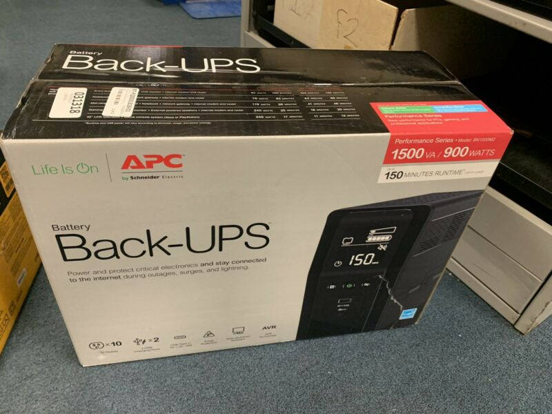 APC Back-UPS Pro 1500VA 10-Outlet/2-USB Battery Back-Up and Surge Protector NEW
