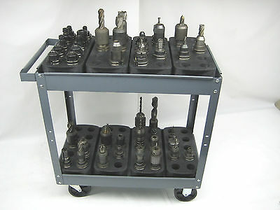 Lot Of 4 Trays For 40 Cat40 Ct40 Bt40 Nmbt40 Cnc Toolhoders Storage Racks