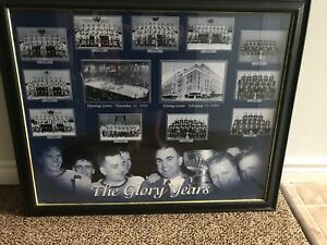 Maple leafs glory years framed picture