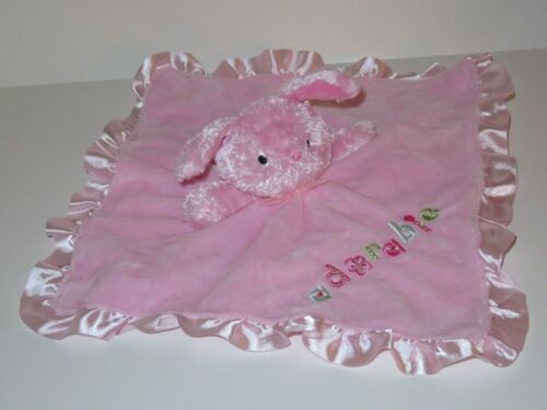 Carters Child Of Mine Adorable Pink Bunny Rabbit Security Blanket Rattle Plush