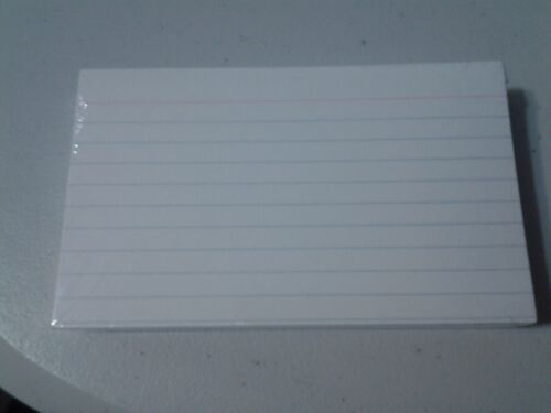 """Index Note Cards Ruled 3 x 5"""" / 100 Cards White"""