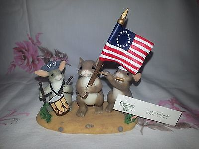 """Charming Tails """"Freedom on Parade"""" Fitz/Floyd Boxed Figurine"""