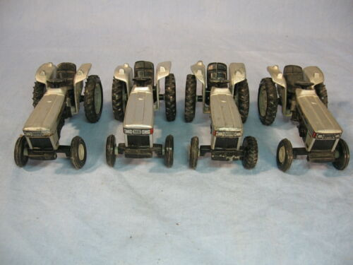 Lot of 4 Scale Models White Field Boss 1/64 Toy Tractors