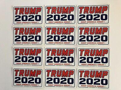 Trump 2020 ...Keep America Great ! ...Vinyl Stickers Decals  ...12 Pack