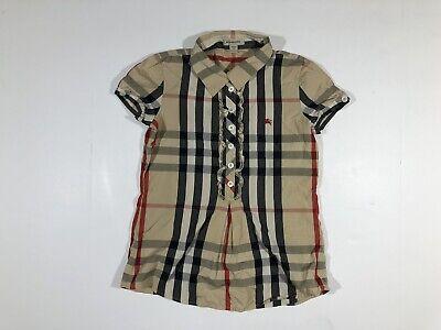 Burberry Full Nova Check Dress Kids Girls 10y/140cm Half Button Short Sleeve