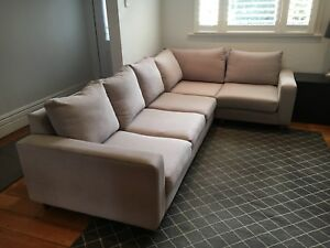 Domayne Modular Sofa With Cushions And Rug