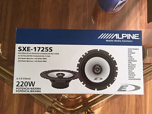 "Alpine Type E Custom Fit 2-Way 6.5"" Coaxial Speakers"
