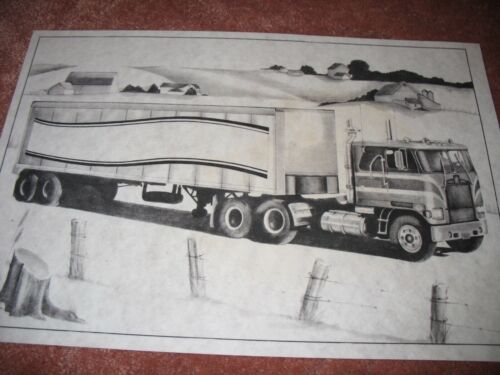 * TRI CHEM 8323 TRUCK IN THE FARM LAND 18 WHEELER SEMI Picture to paint TRICHEM