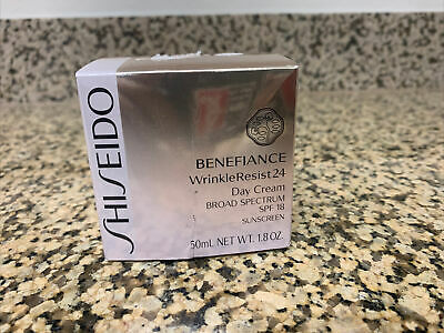 SEALED Shiseido Benefiance WrinkleResist24 Day SPF 18 Cream 50 ML 1.8 OZ ***