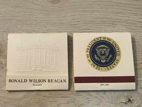 Authentic matchbooks from the White House (President Reagan)