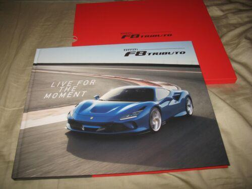 Ferrari F8 Tributo hardcover prestige brochure with slipcase 6444/19