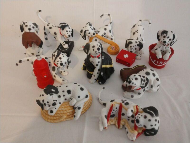 Lot of 10 - PG Porcelain Dalmatian Figures 1994 - WSPOT, Hide n Seek, more