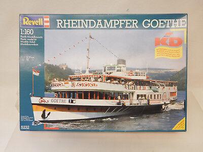 MES-59659Revell 5232 1:160 Rheindampfer Goethe mit Fahrplan Bausatz geöffnet,