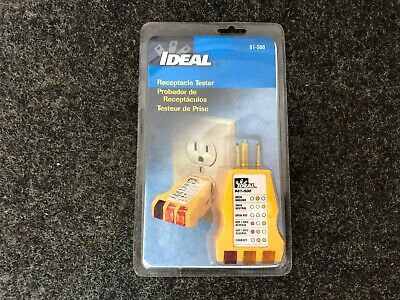 New Ideal Industries 61-500 Receptacle Check 120v Outlet Circuit Tester Sealed