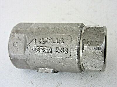 Apollo 38 Npt Stainless Steel Cf8m Check Valve .5 Psi Cracking Pressure 400 Cwp